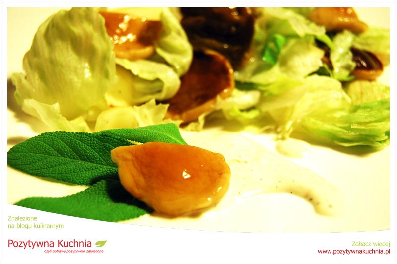 Sałatka z selera z marynowanymi grzybkami