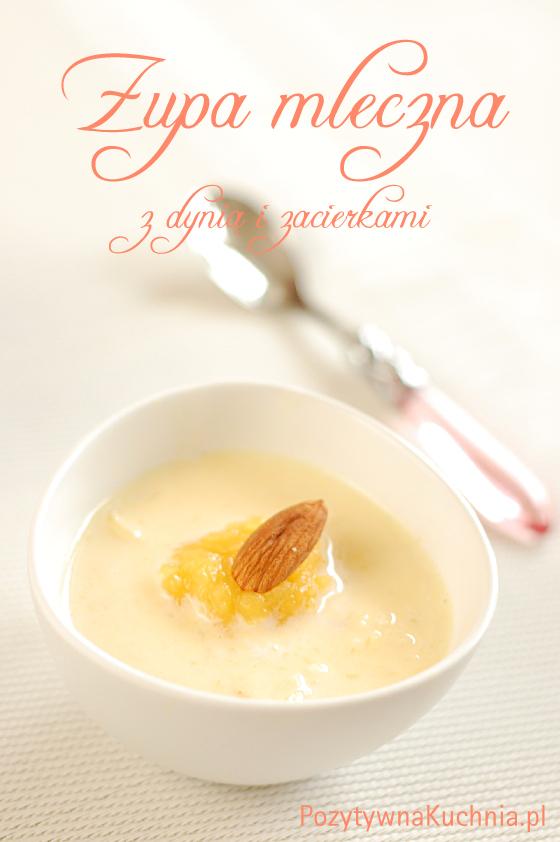 Zupa mleczna z dyni z zacierkami