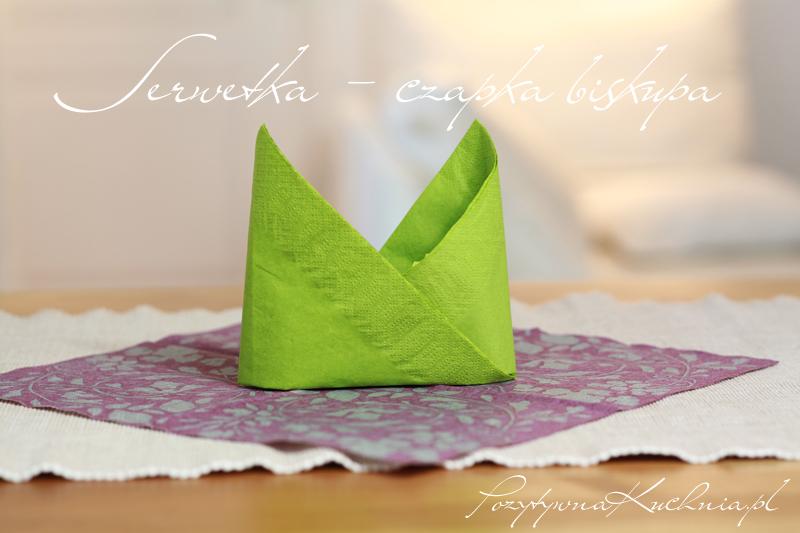Serwetka w kształcie czapki biskupa