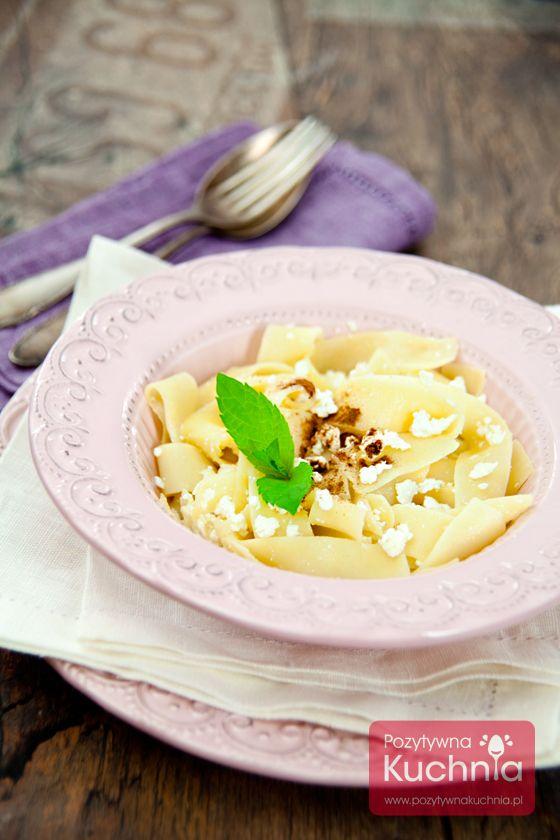 Makaron z serem na słodko