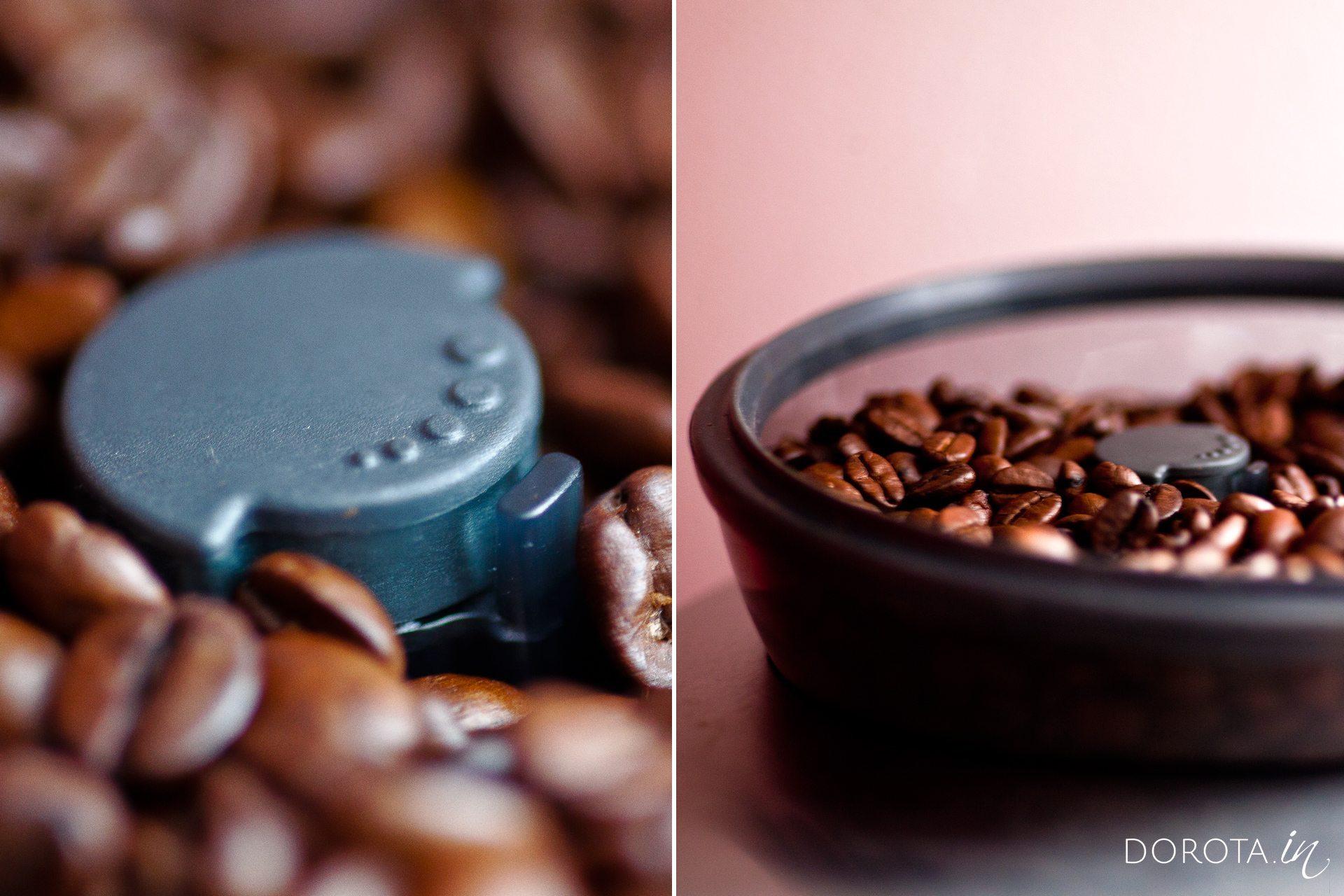 Ceramiczny młynek z funkcją regulacji stopnia zmielenia kawy