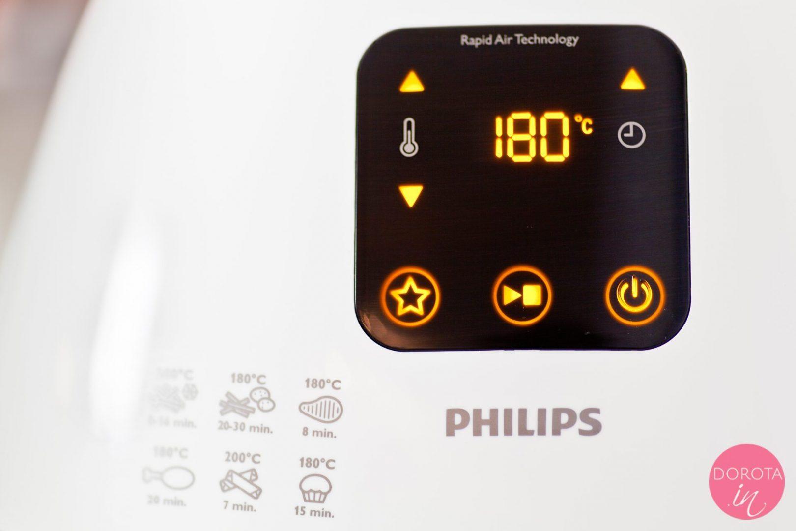 Intuicyjny panel obsługi Philips Airfryer