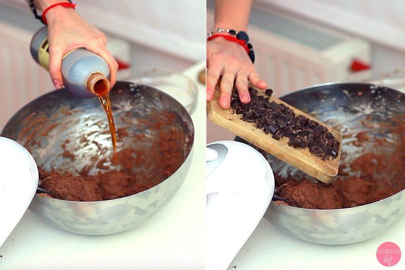 Ciasteczka czekoladowe - przepis - krok 4
