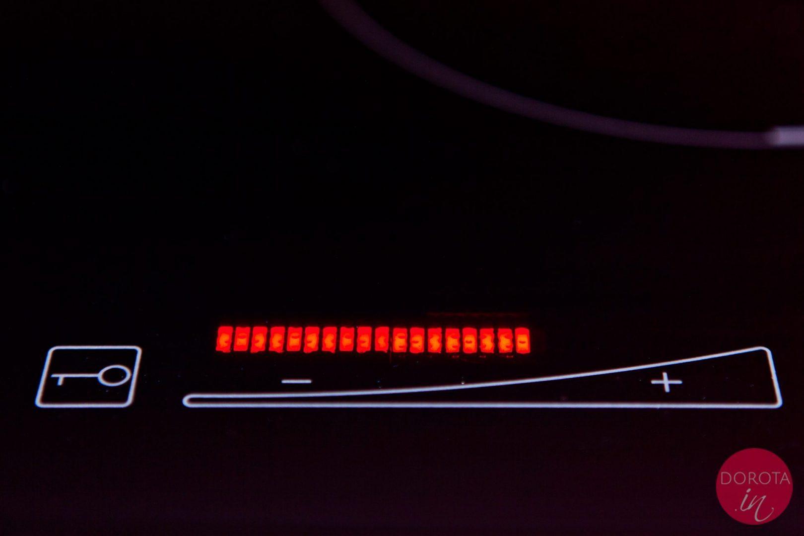Solgaz - panel dotykowy - wygodna i płynna regulacja mocy