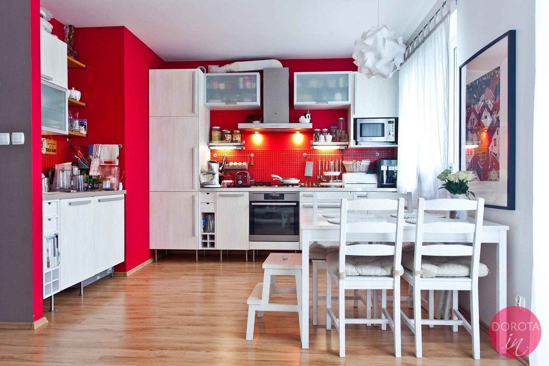 Kuchnia przemalowana na biało - metamorfoza kuchni