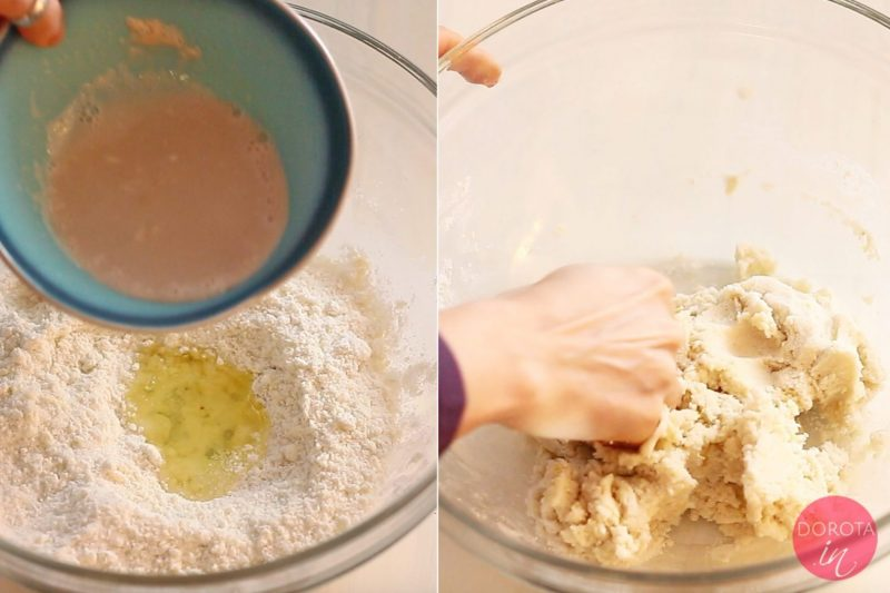 Ciasto drożdżowe bezglutenowe - zagniatanie