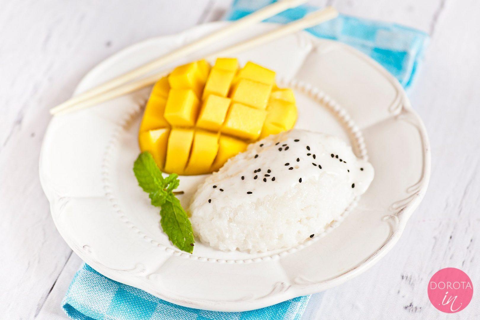 Sticky rice z mango