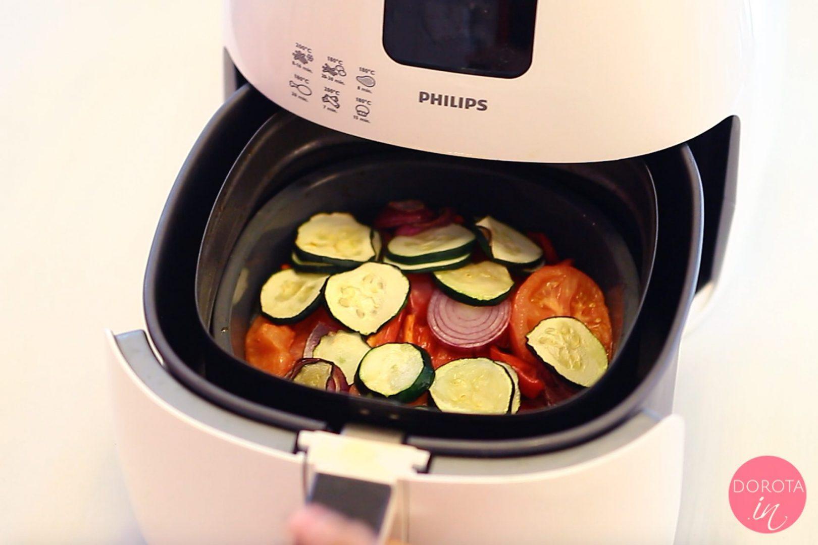 Warzywa w silikonowej foremce
