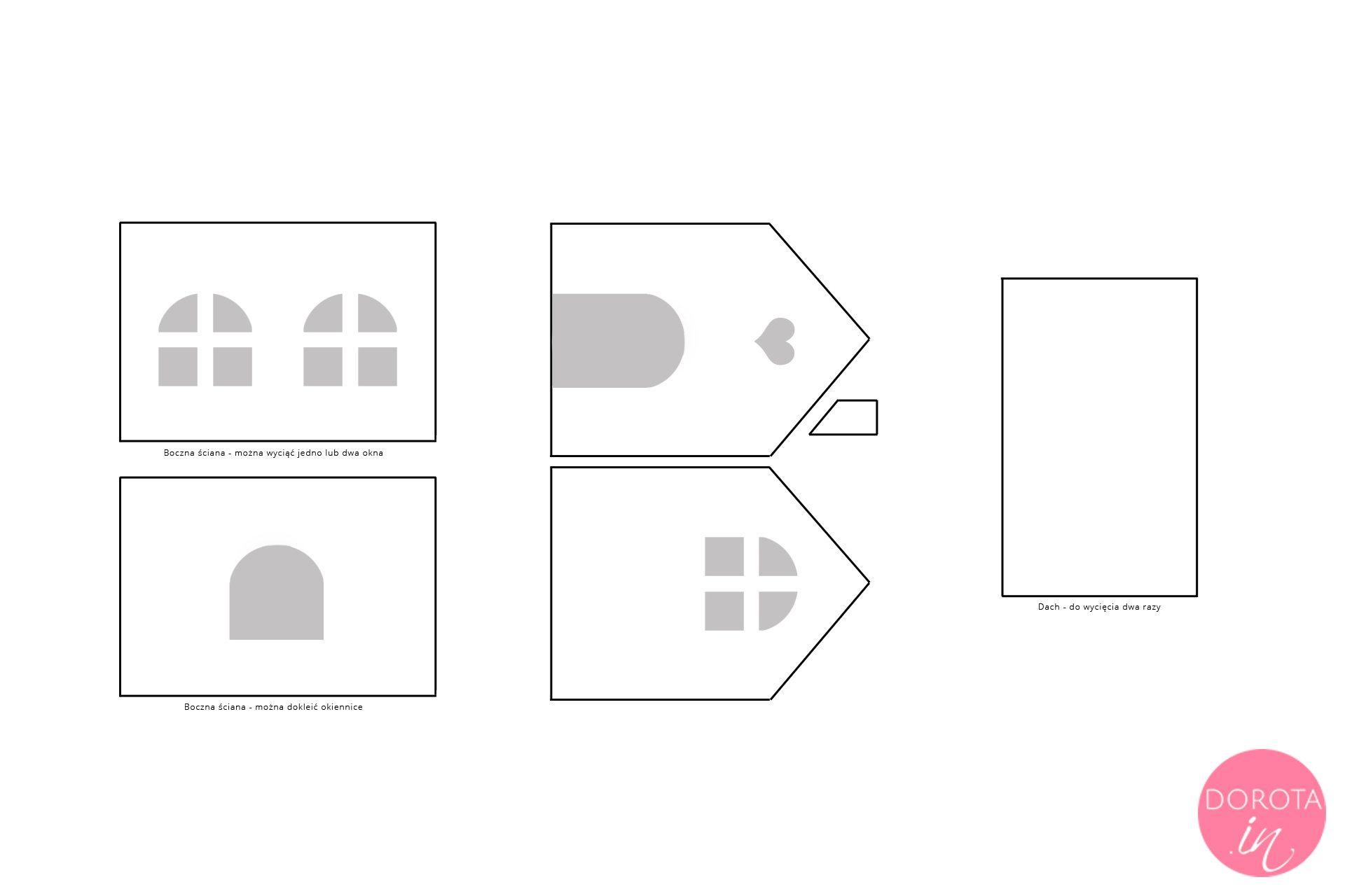 Domek z piernika - szablon do wydruku