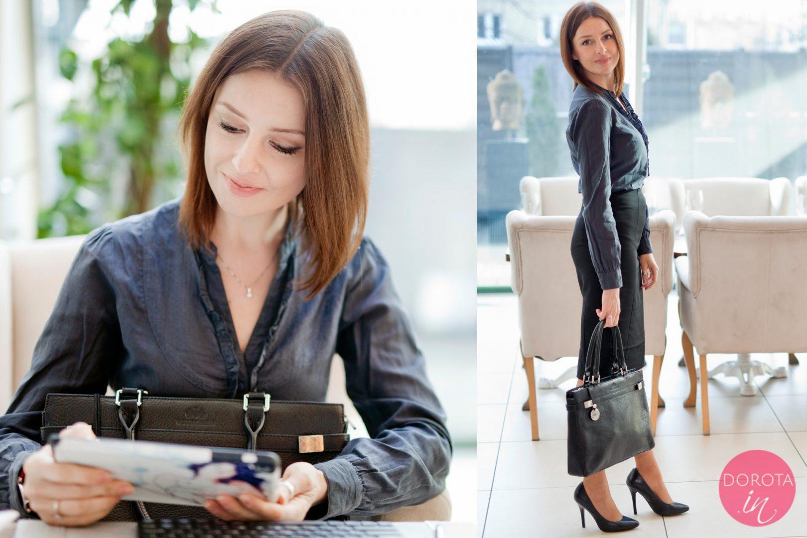 Czarna spódnica ołówkowa stylizacja | Dorota Kamińska