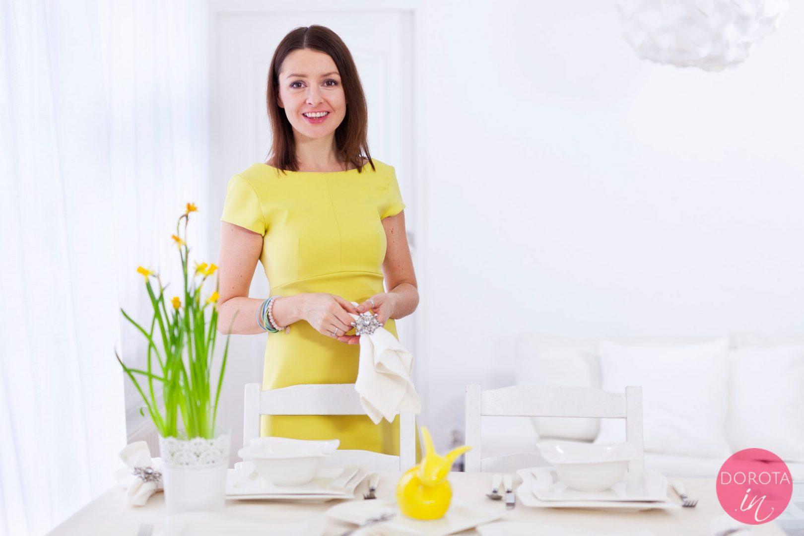 Zielona sukienka - stylizacja na Wielkanoc
