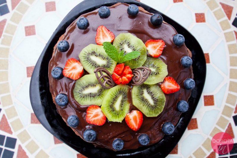 Tort naleśnikowy czekoladowy