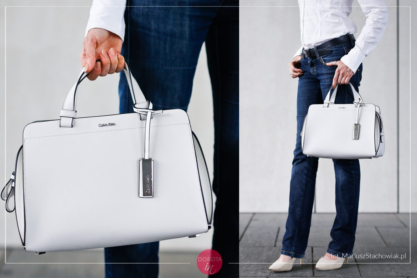 Biała torebka Calvin Klein Sofie Duffle