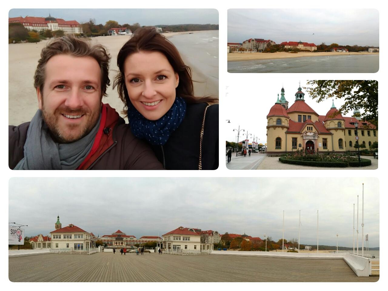 Molo w Sopocie - Trójmiasto przywitało nas chłodem, wiatrem i chmurami