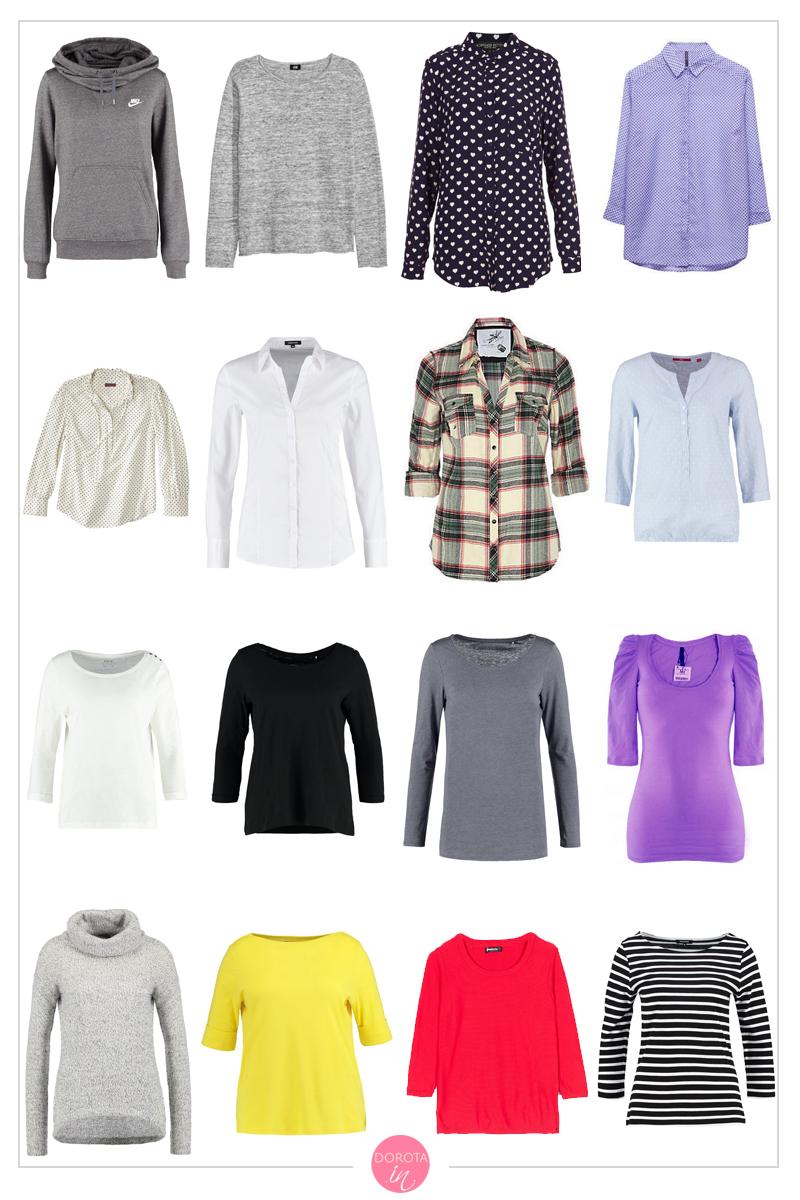 Bluzki, koszule, bluzy, swetry, sweterki na jesień