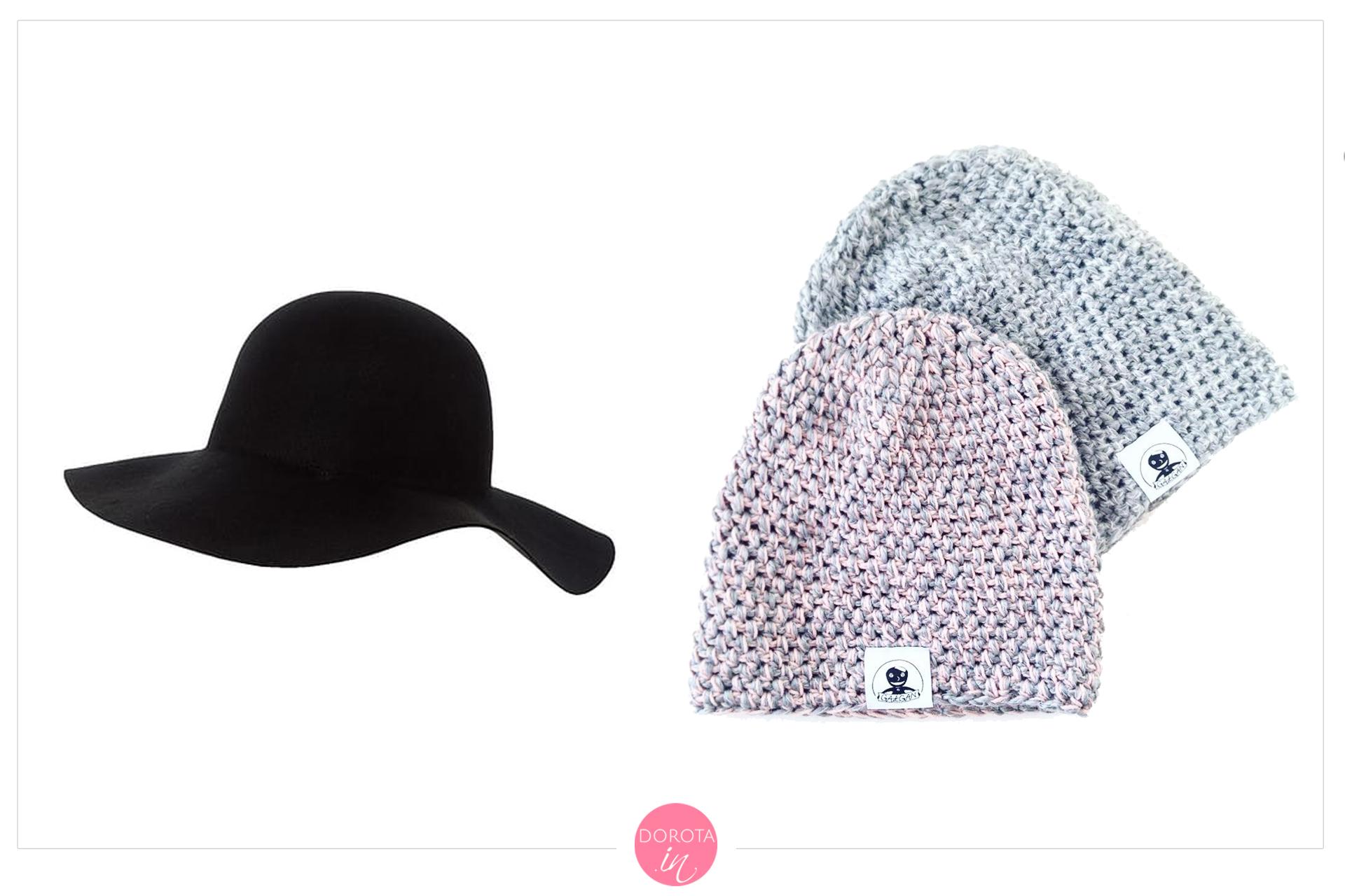 Czapki i kapelusze na zimę - garderoba kapsułowa