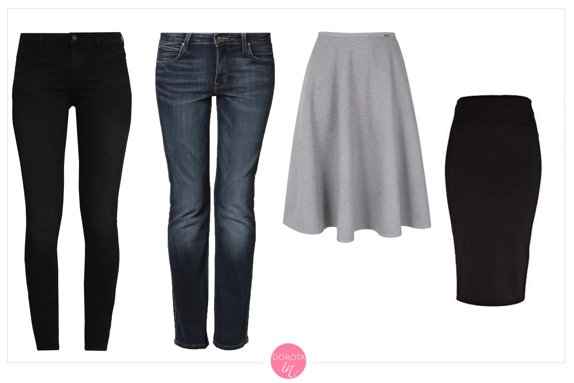 Spodnie i spódnice na zimę - garderoba kapsułowa