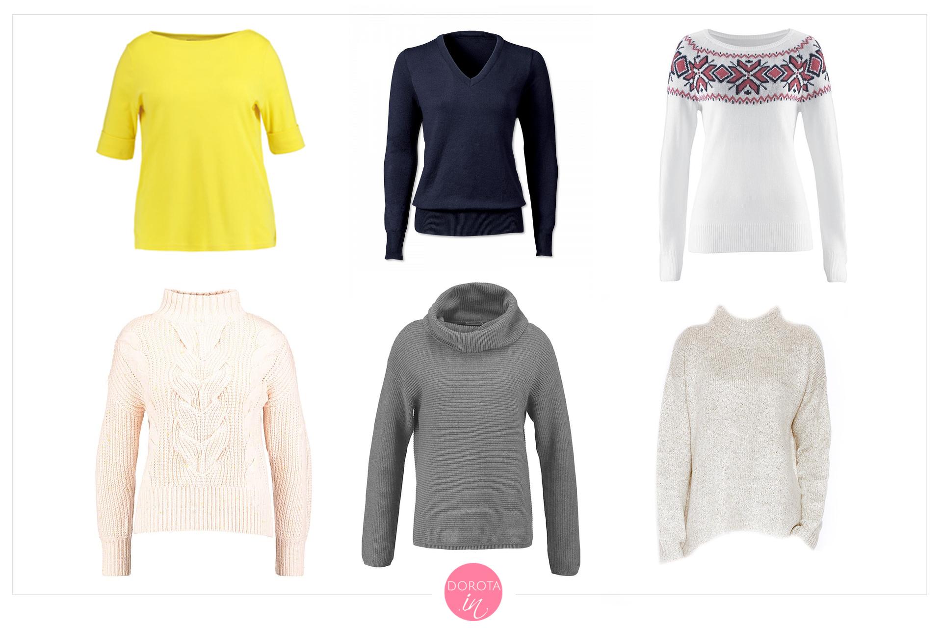 Swetry na zimę - garderoba kapsułowa