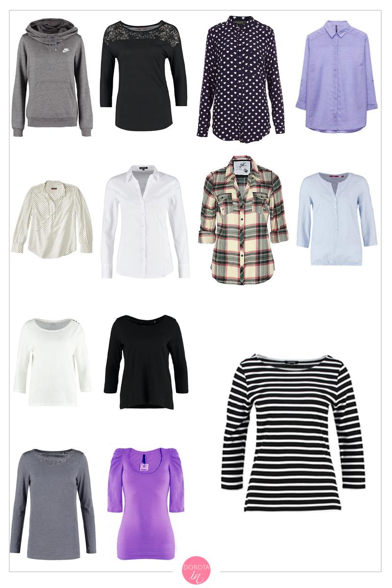 Bluzki, bluzy i koszule na zimę - garderoba kapsułowa