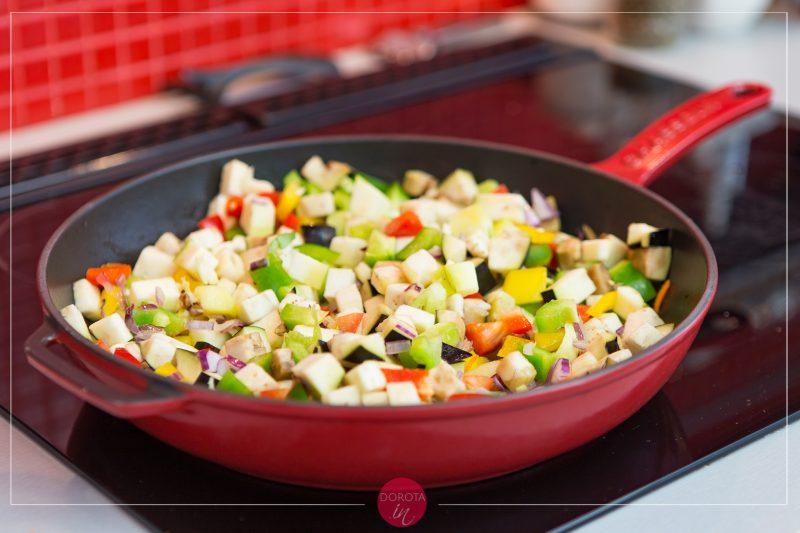 Makaron z warzywami - przepis - krok 3