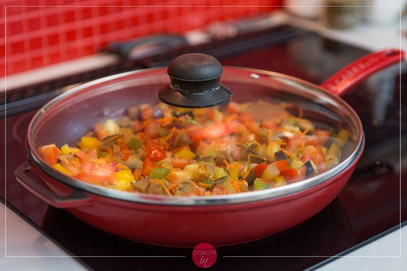 Makaron z warzywami - przepis - krok 4
