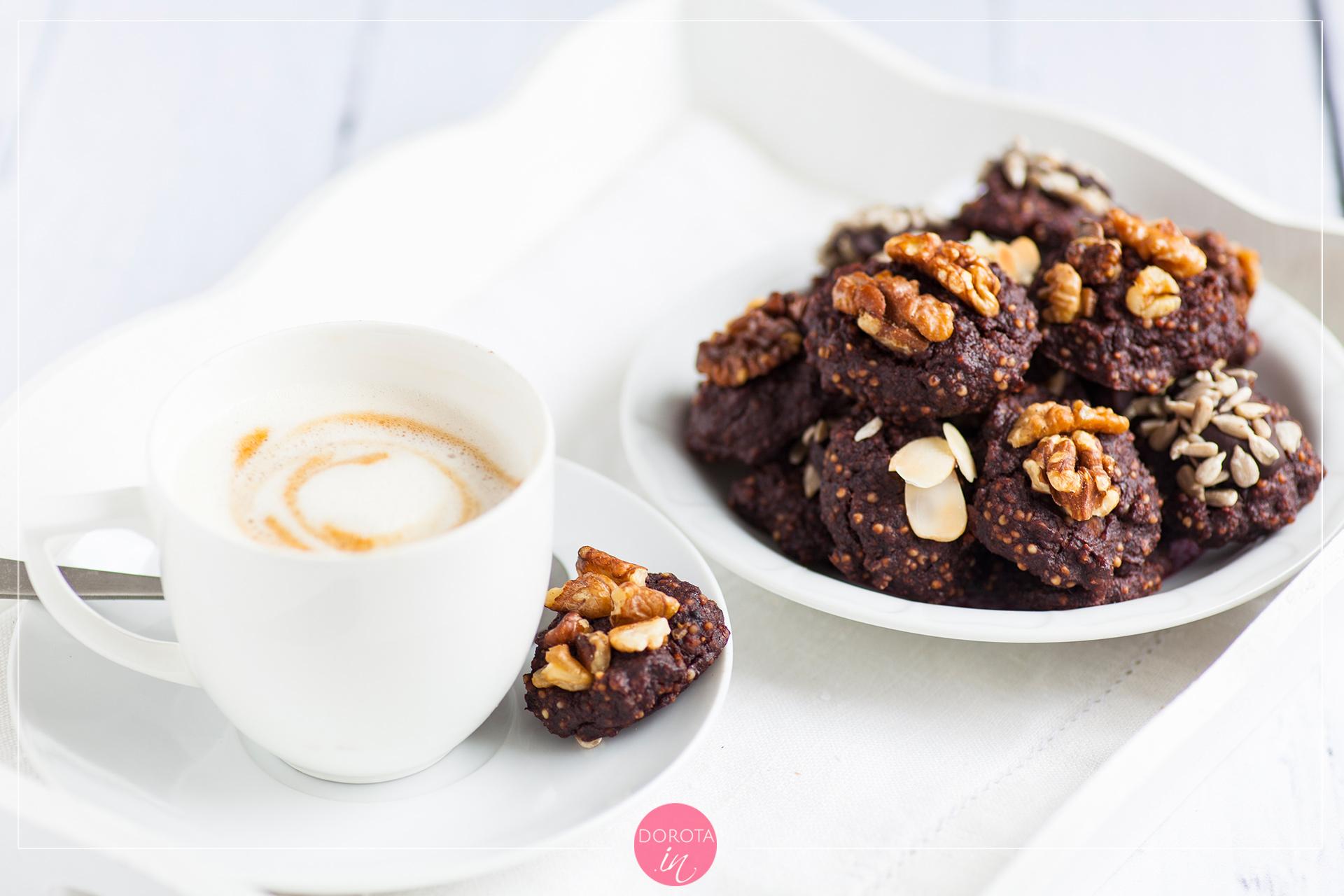 Ciasteczka czekoladowe bez mąki