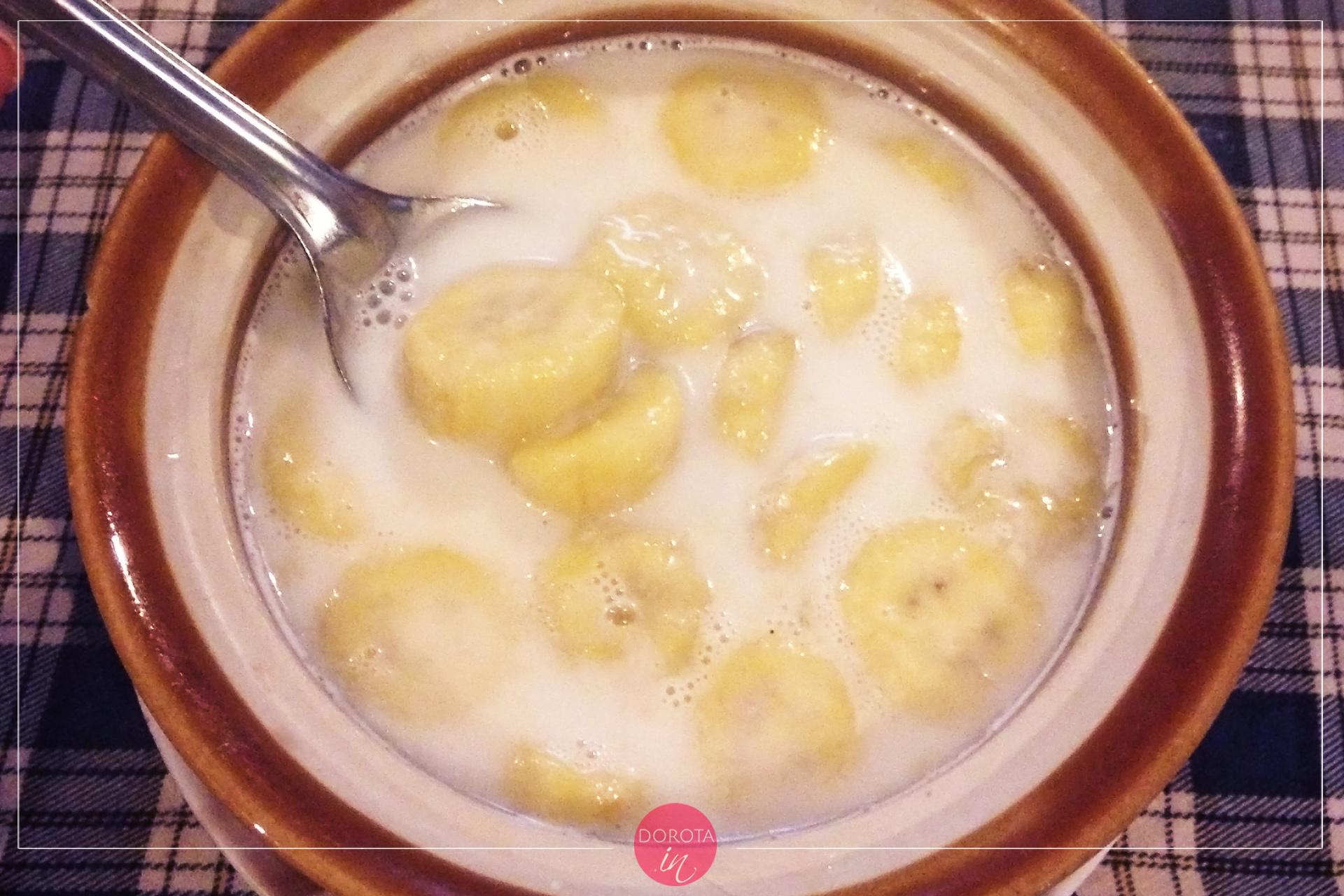 Banan z mlekiem kokosowym