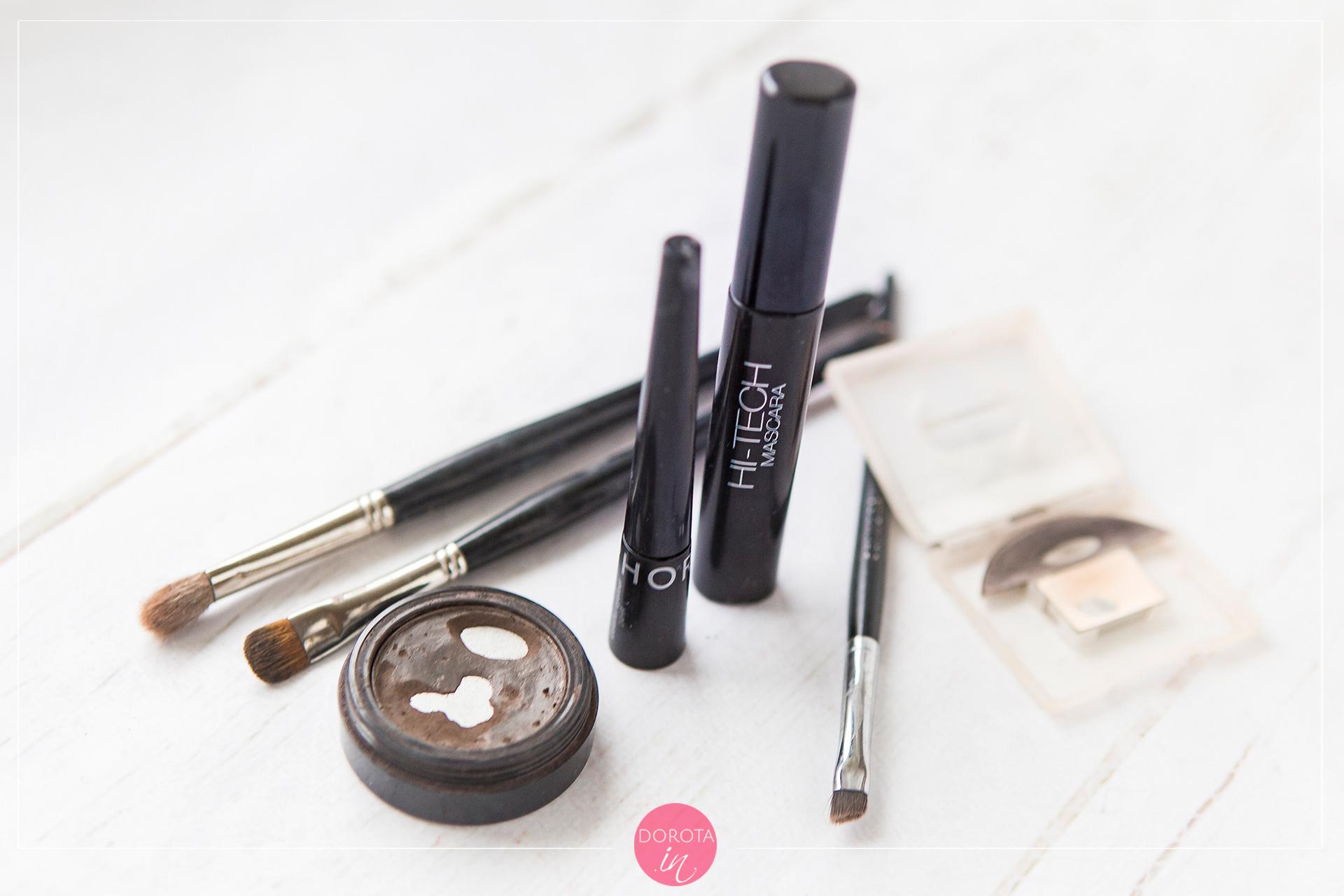 Kosmetyczka minimalna - makijaż oczu