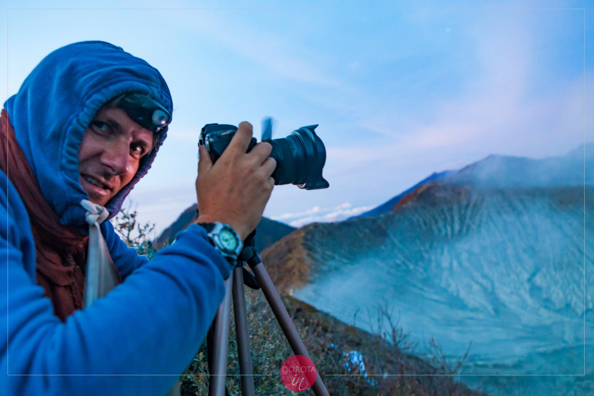 Fotograf na wulkanie