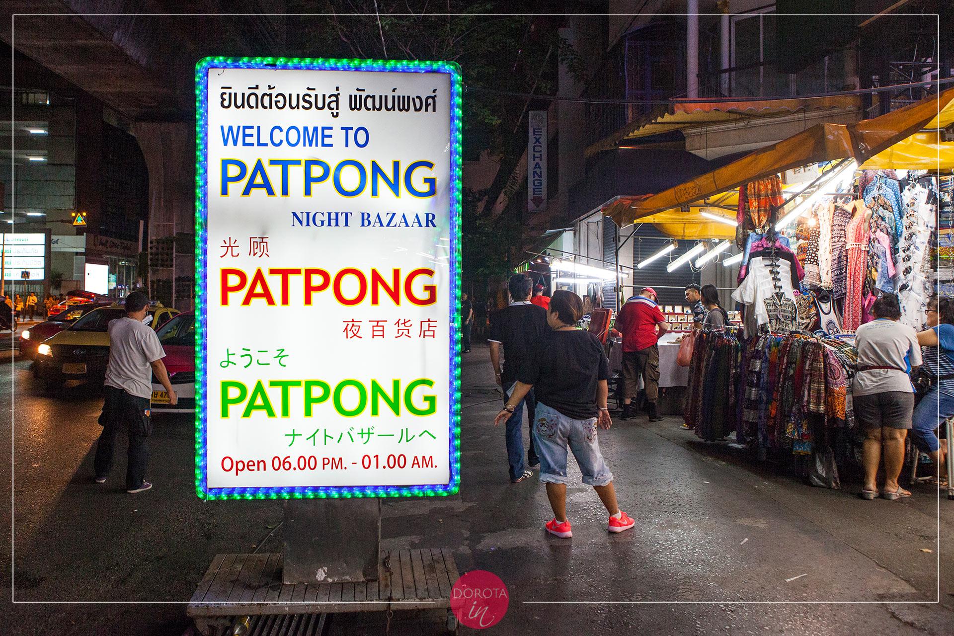 Nocny bazar Patpong