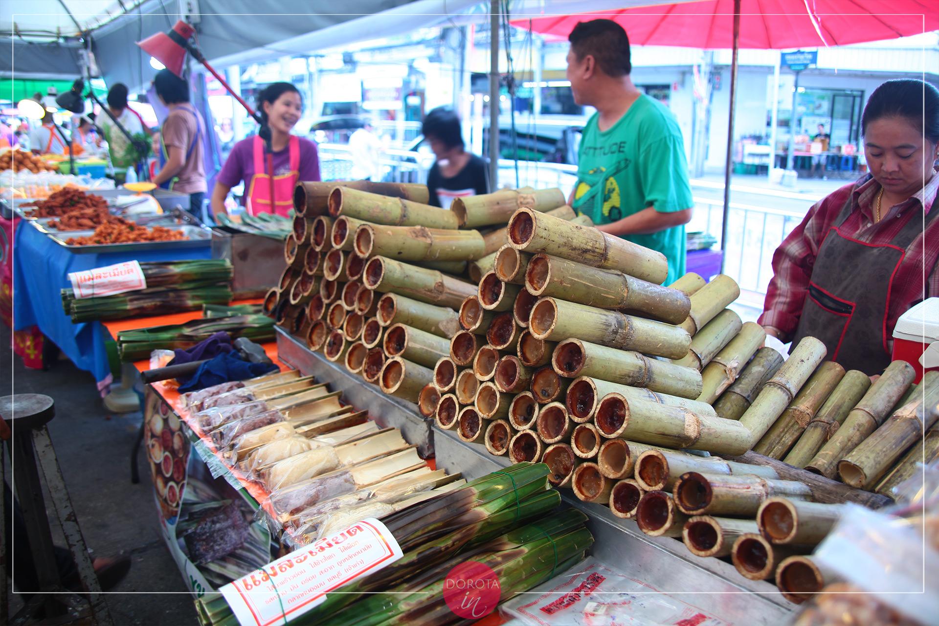 Sticky rice bamboo