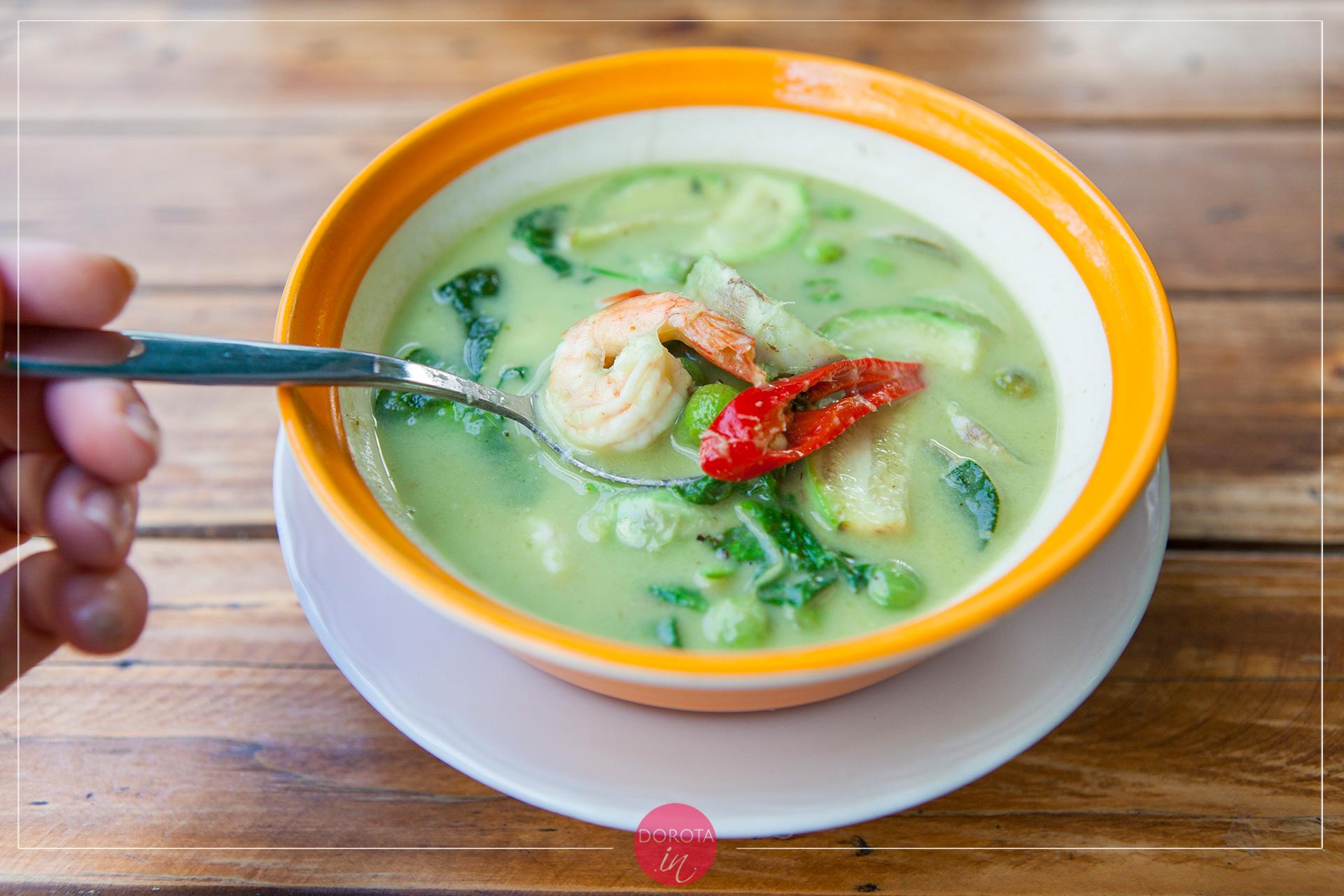 Zielone curry tajskie green curry