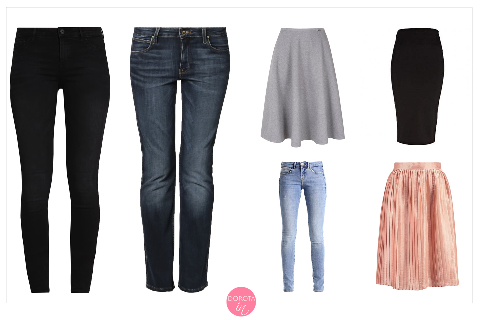 Spodnie i spódnice na wiosnę - garderoba kapsułowa