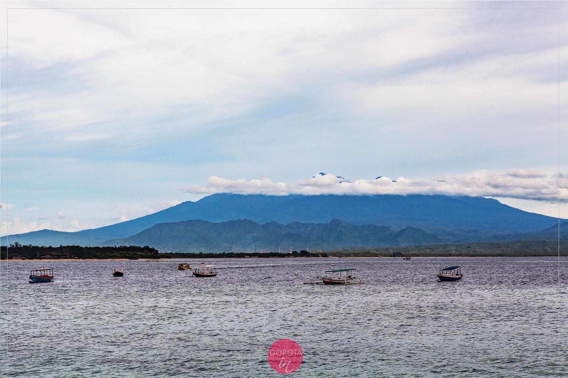 Wulkan Rinjani - to był jedyny dzień, kiedy góra była widoczna