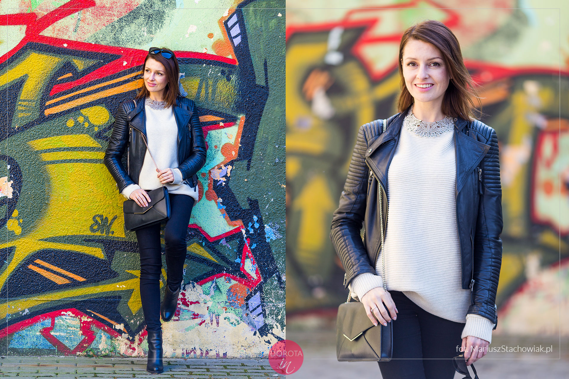 Rockowa stylizacja i sweter oversize