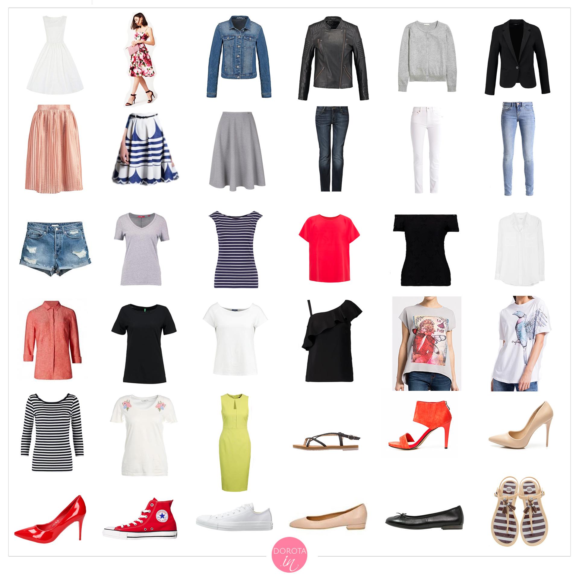 Garderoba kapsułowa na lato - letnia szafa minimalna