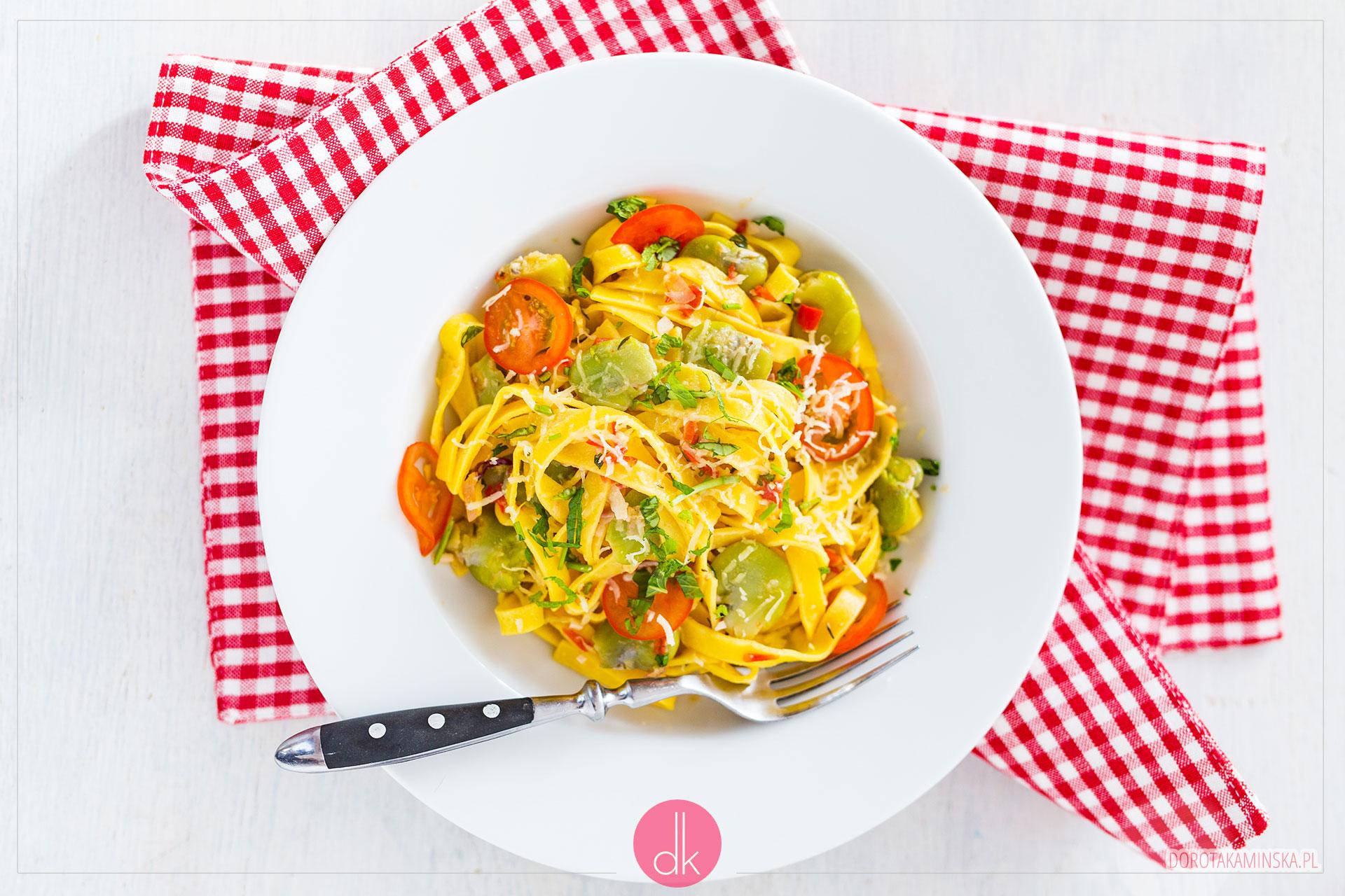 Makaron z bobem - prosty przepis i szybki obiad
